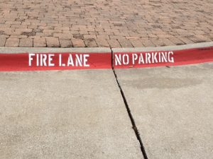 Fire Lane Striping